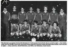 ABERDEEN YOUTH TEAM FOOTBALL PHOTO 1984-85 SEASON
