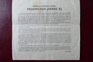 1960 Premium Savings Bonds Prospectus (Series B)