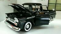 1958 Chevrolet Apache Fleetside Pickup Diecast Motormax Model 1:24 Scale Black