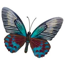 Butterfly Garden Ornament Wall Art Shudehill Home Decoration Metal Large Teal