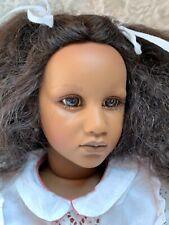 "Annette Himstedt Doll Fatou 26"" Barefoot Children Made In Spain Coa Boxes New"