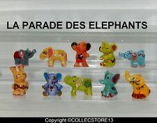 SERIE COMPLETE DE FEVES LA PARADE DES ELEPHANTS