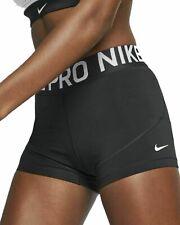 "Nike pro Women's shorts 3"" Black White S M L XL AO9977 010 compression NWT"