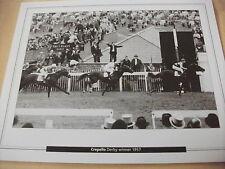 EPSOM DERBY - CREPELLO WITH LESTER PIGGOTT 1957  : 10X8 PRINT (25cm x 20cm)