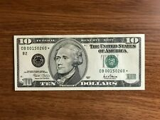 2001 $10 Star Notes  currency * New York  Replacement note Rare Federal Reserve