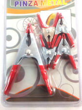 """Metal Spring Clamp Set Clips 4"""" 2"""" 5pcs Jaw Clamps Clips Windproof Canvas Grip"""