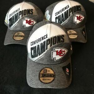 3 Pack NFL Conference Champions Kansas City Chiefs Championship Hats New Era NEW