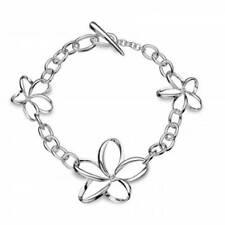"Sterling Silver Excellent 7.5 - 7.99"" Fine Diamond Bracelets"