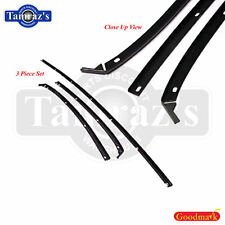 81-88 A/G Body T-Top Roof Trim Molding & Weatherstrip Retainer BLACK 3 pc SET