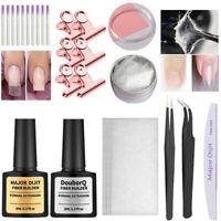 EE_ 1 Set Nail Art Silk Fiber Glass Gel Tips Extension Repair Builder Manicure T