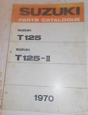 1970 70 SUZUKI T125 T 125 -II PARTS CATALOG SHOP SERVICE REPAIR MANUAL Catalogue