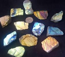 Labradorita Cristal Pulido Dorado Azul Flash Gema Chakra Curación Pulido Cara