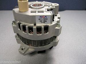 NSA 7861-11N Alternator 100-105 Amp/12 Volt, CW, 4-Groove Pulley, 11:00 Plug