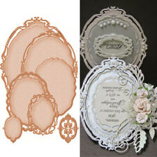 7Pcs Oval Lace Metal Cutting Dies Stencils Scrapbook Embossing Craft Photo Frame