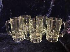New listing 5 Heavy Glass 8oz Beer Mugs