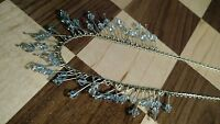 Tribal artisan beads silvertone bib necklace
