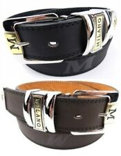 "Men's Leather Jeans Belt, Black or Brown, 28"" - 48"" , by Milano®"