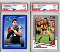 2018 Sam Darnold Short Print Rookie Lot (2 Cards) Both PSA MINT 9