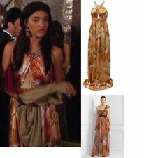 Matthew Williamson gossip girl jewel dress halter silk maxi gown 8 floral