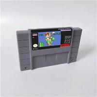 New Toad's World Game 16 bit Cartridge Console US Version Nintendo SNES English