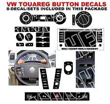 2004-2009 VW TOUAREG BUTTON DECALS STICKERS RADIO W NAVIGATION REPAIR SET