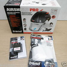 TREND AIRSHIELD PRO RESPIRATOR AIR/PRO + EXTRA 8 HOUR BATTERY & THP2 FILTERS