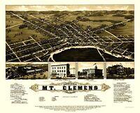 Mt Clemens Michigan - Beck 1881 - 23.00 x 28.67
