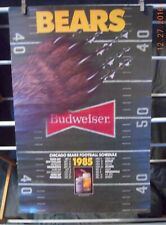 Chicago Bears 1985 Schedule Poster Super Bowl Season. RARE! 16x24 approx