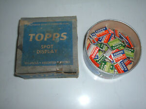 ORIGINAL 1940'S TOPPS CHEWING GUM COUNTER TOP SPOT DISPLAY WITH GUM