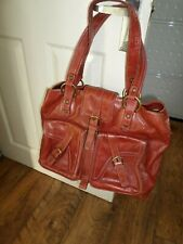 BRAMBLE & BROWN LEATHER LAPTOP /HANDBAG  SATCHEL STYLE 16 X 12 X 6 INCHES