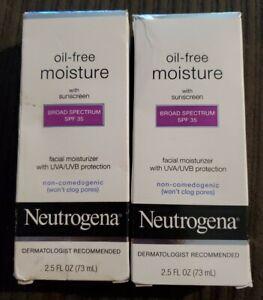 (2) Neutrogena Oil-Free Moisture W/ SPF 35 2.5oz ~EXP: 3/22+