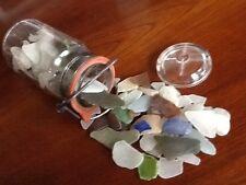1/2 Pint Jar Full Of Real Sea Glass