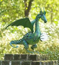 Solar Dragon Globe Outdoor Garden Yard Lawn Decor Patio Pathway Art Porch Statue