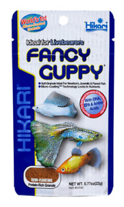 Hikari Fancy Guppy 22g Platies Swordtail Mollie Tropical Semi Floating Fish Food