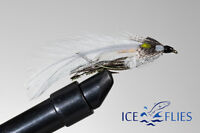 ICE FLIES. Streamer fly, Gray ghost .Size 2, 4, 6, 8 and 10 (3-pack)