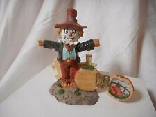 Fall/Autumn  Halloween Resin Scarecrow~Hinged Pumpkin Figurine  3 1/2""