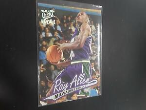 Ray Allen 1996-97 Fleer Ultra Rookie Card RC #60 Milwaukee Bucks H19