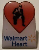 "Walmart Associate Pin! Beautifully Crafted! ""Mr. Sam's Heart Pin!"" Uplifting!"