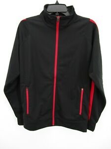 Holloway Mens Black Stand Up Collar Full Zip Activewear Track Jacket Size Small