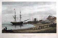 BRIGHTON BEACH SUSSEX  BY  HENRY EDRIDGE  GENUINE ANTIQUE ENGRAVING  c1826