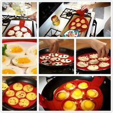 Fantastico ANTIADERENTE inversione Pancake Maker Stampo in Silicone uovo frittata Anello Maker