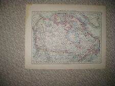 ANTIQUE 1890 DOMINION OF CANADA & NORTH AMERICA MAP UNITED STATES GEOLOGICAL NR