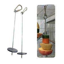 Stainless Steel Fruit Spear Stick Meat Skewer Parrot Bird Food Holder Supplies