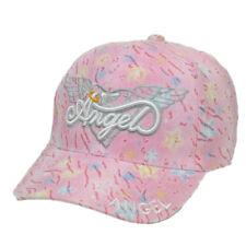 Angel Wings Pink Hearts Glitter Girls Teens Fashion Adjustable Hat Cap