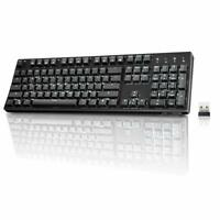 Velocifire VM02WS 104-key with high battery,Wireless Mechanical Keyboard