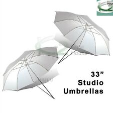 "2x Photography 33"" Soft White Translucent Umbrella Flash Light Diffuser Control"