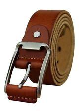 Heepliday Men's Fashion Soft Leather 15006   Belt Large 36-38 Brown/orange