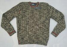 NEW Polo Ralph Lauren Men's Antique Cotton LongSleeve Crew Neck Sweater Sz L