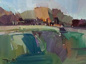 JOSE TRUJILLO Oil Painting IMPRESSIONISM Contemporary 9x12 Landscape MODERN