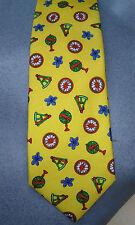 Etro Yellow Compass Globe & Sextant Themed Mens Silk Tie